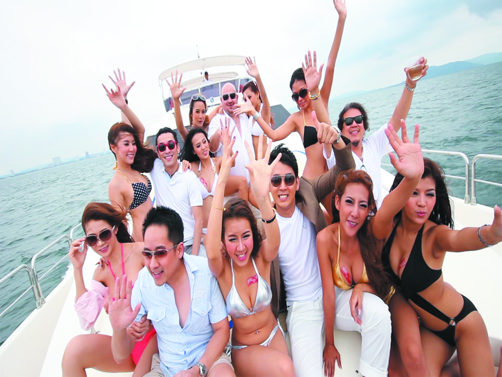 Sexy Bachelor yacht party