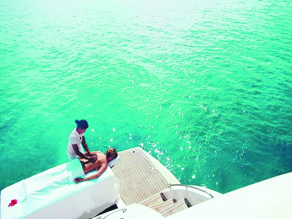 Boat massage service