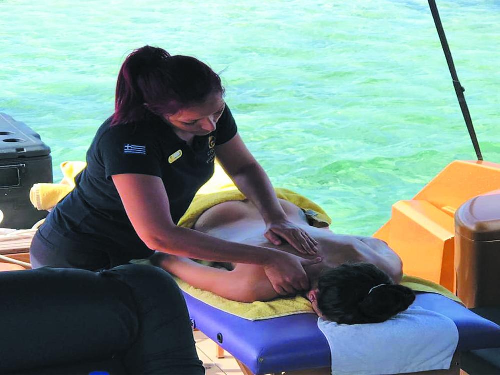 Massage on boat