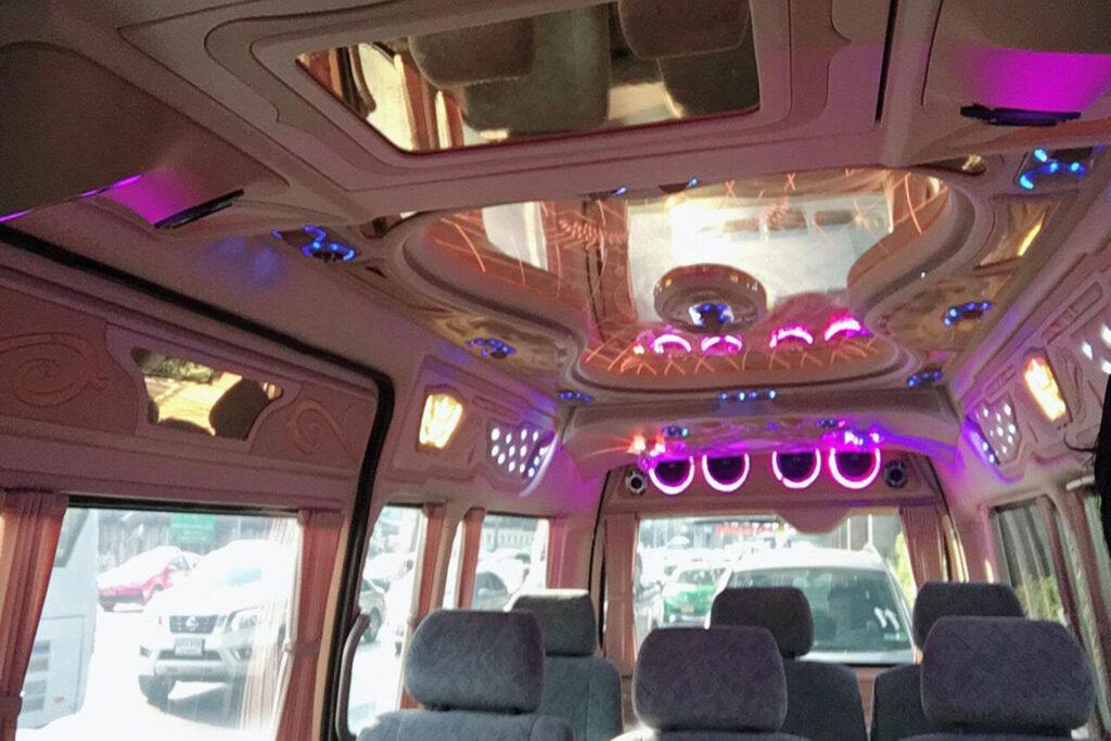 Funky minivan