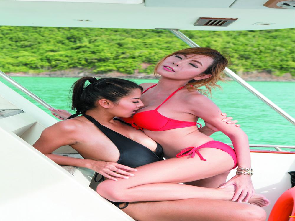 Fun bikini babes